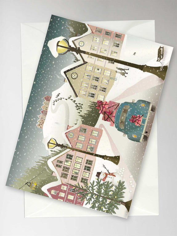 Let it snow Christmas card with envelope from ViSSEVASSE