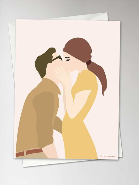 THE KISS - greeting card