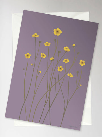 BUTTERCUP purple - Greeting Card