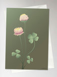 CLOVER forest green - Greeting Card