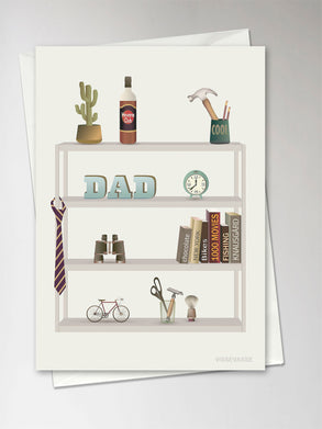 Dad's favourites greeting card from Vissevasse