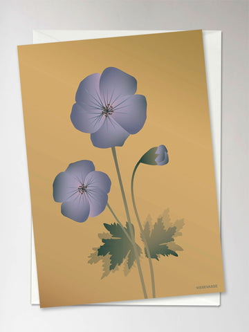 GERANIUM amber - Greeting Card