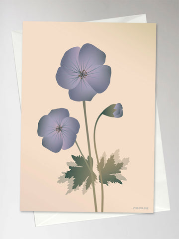 GERANIUM nude- Greeting Card