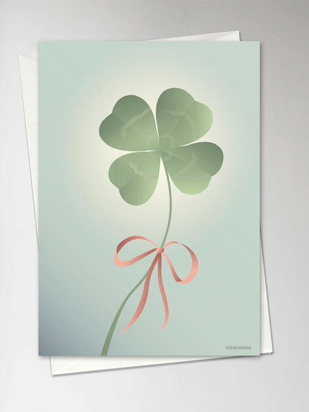 Card with clover from ViSSEVASSE