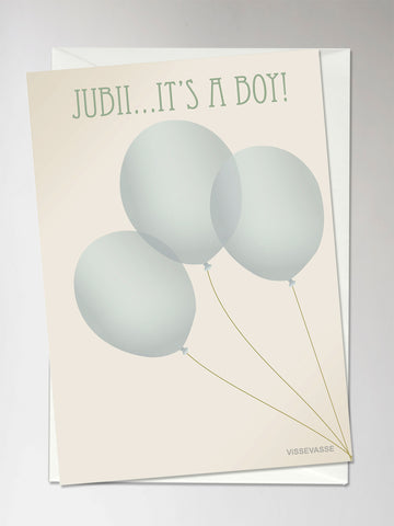 JUBII IT'S A BOY - Greeting Card