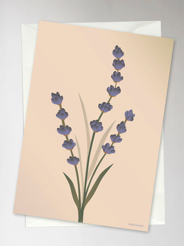 LAVENDER nude - Greeting Card