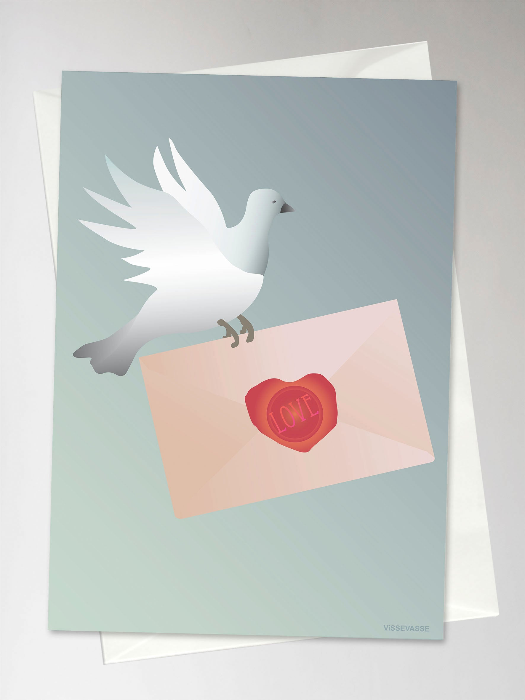 Love Letter Greeting Card By Vissevasse Buy It Here Vissevasse