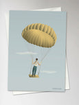 MAN IN THE SKY - Greeting Card