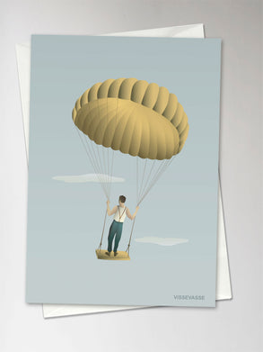 MAN IN THE SKY greeting card from ViSSEVASSE