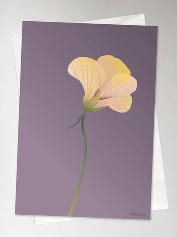 MONK CRESS purple - Greeting Card