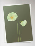 PANSY forest green - Greeting Card