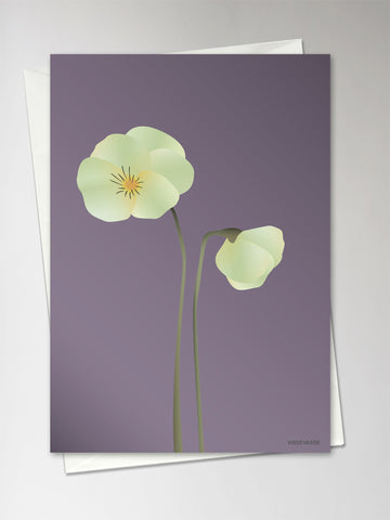 PANSY purple - Greeting Card