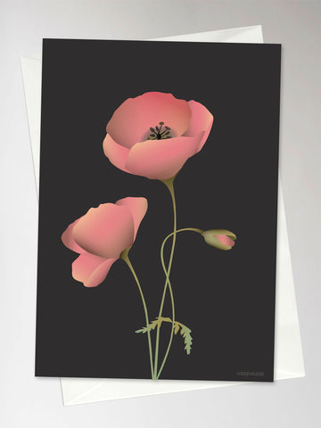 POPPY noir - Greeting Card