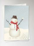 SNOWMAN - Greeting Card