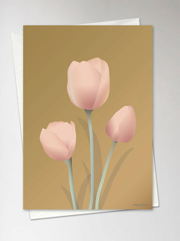TULIPS amber - Greeting Card