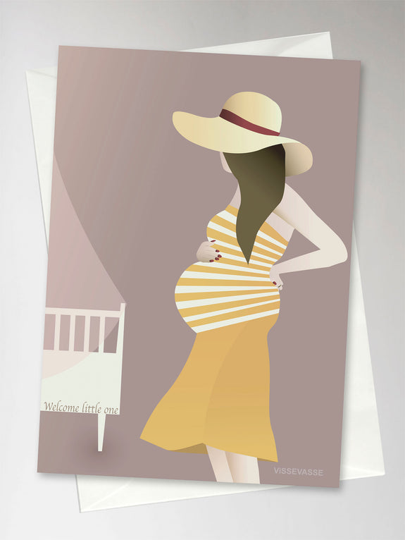 Pregnant woman greeting card from Vissevasse