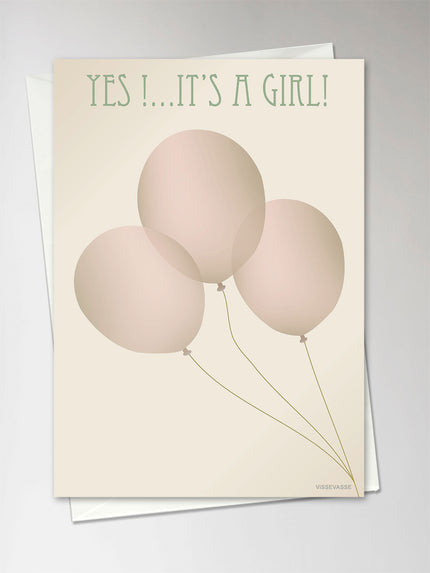 Vissevasse,Yes it's a girl, greeting card