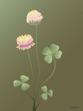 Flower poster from ViSSEVASSE with Clover