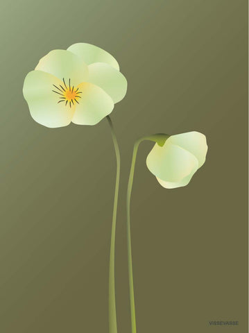PANSY forest green - poster