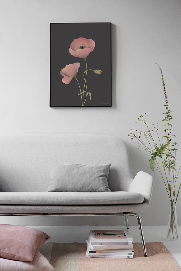 Flower poster from ViSSEVASSE with red poppy