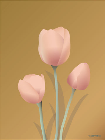 TULIPS amber - poster