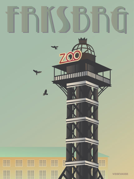 Frederiksberg poster from ViSSEVASSE with the tower at the Zoo
