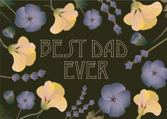 Best dad ever greeting card from Vissevasse