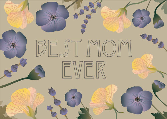 Best mom ever greeting card from Vissevasse