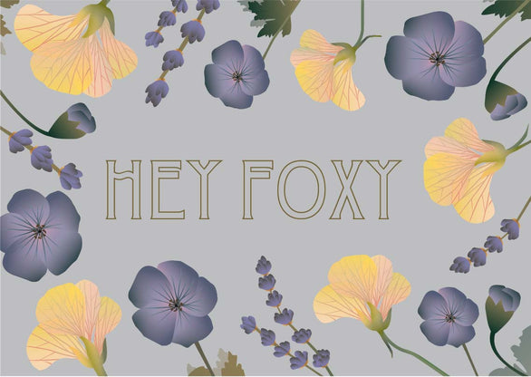 Hey foxy greeting card from ViSSEVASSE