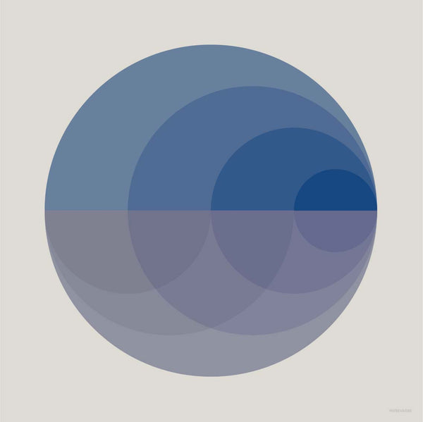 Gradient blue poster from Vissevasse