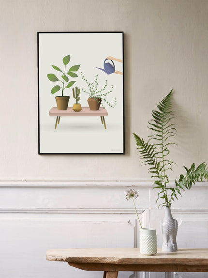 Poster with growing plants from vissevasse