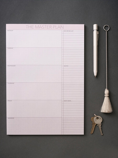 The masterplan notepad from ViSSEVASSE