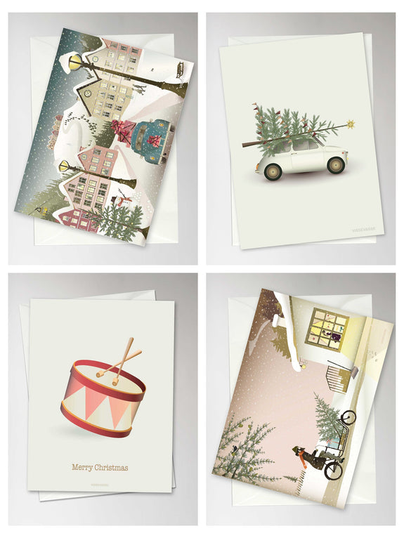 Christmas cards box of 4 - number 4