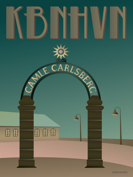 Copenhagen poster from ViSSEVASSE with the Stargate at Carlsberg