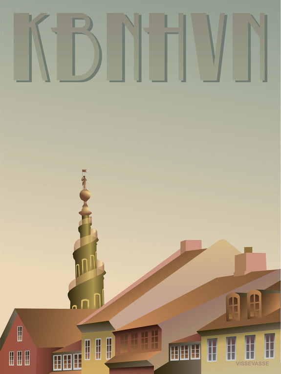 Copenhagen poster from ViSSEVASSE with Christianshavn