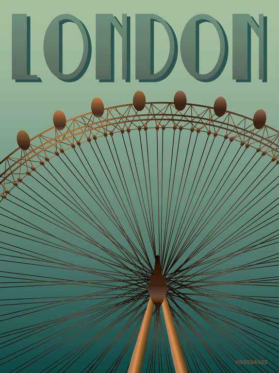 London eye poster from ViSSEVASSE with carousel