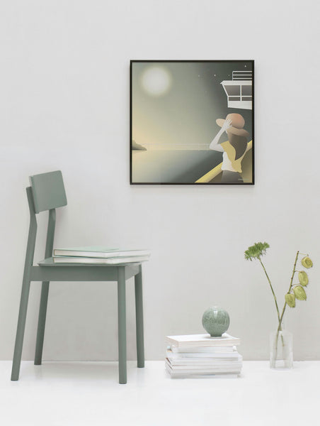 Moonlight moment poster from ViSSEVASSE with girl looking at the moon