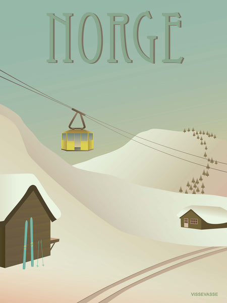Norway poster with snow from ViSSEVASSE