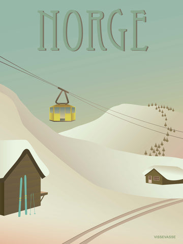 NORWAY Snow - poster