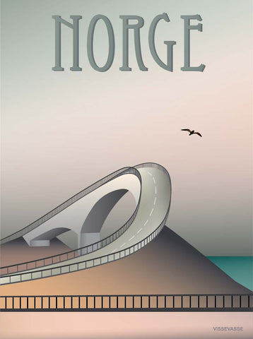 NORWAY Atlantic road - poster
