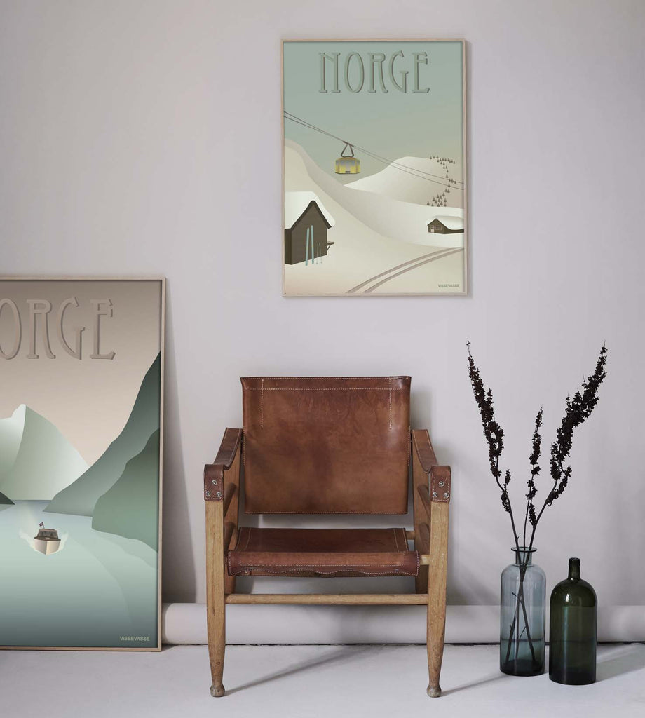Norway poster with snow vissevasse
