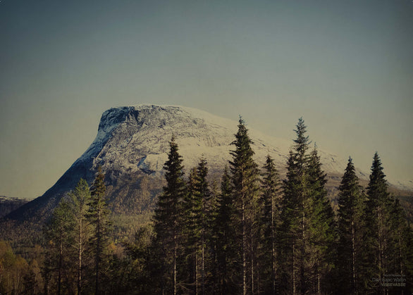 North norway photo poster with mountain from Dan Isaac Wallin