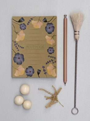 Amber Notebook with flowers from ViSSEVASSE