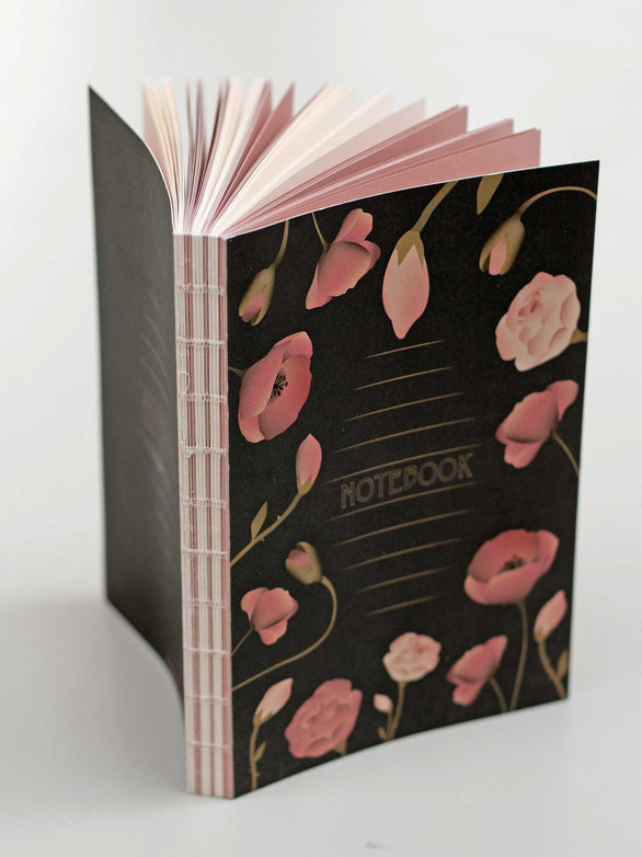 Black Notebook with flowers from ViSSEVASSE