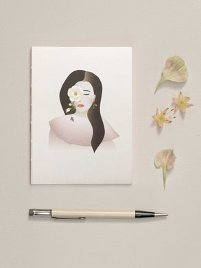 Notebook with girl and flower from ViSSEVASSE