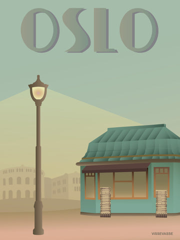 OSLO Newspaper shop - poster
