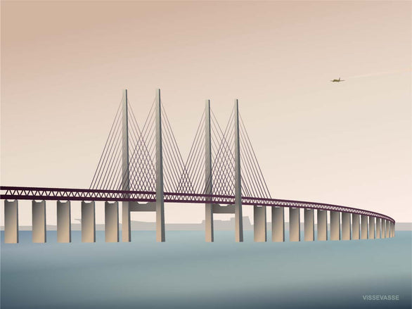 Øresund bridge poster from ViSSEVASSE