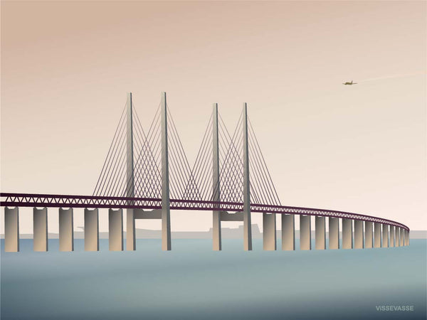 Poster from ViSSEVASSE with the Øresund bridge