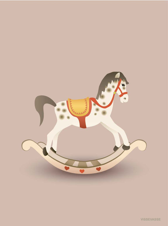 ROCKING HORSE rosy brown - poster