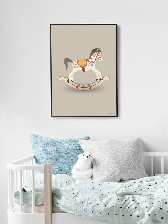 Poster with a rocking horse from Vissevasse
